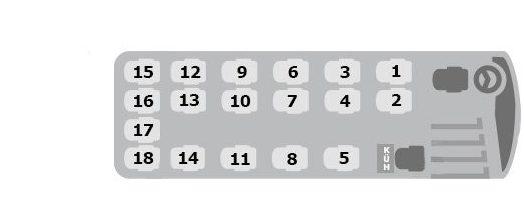 Sitzplan 18er Mercedes-Benz Sprinter 519 CDI