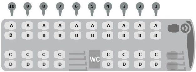 Sitzplan Setra S 511HD ComfortClass